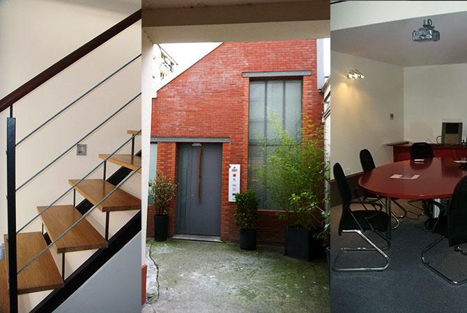Rouge concept projet bureaux partagés à boulogne billancourt